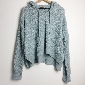 POL Nubby Chenille Comfy Cozy Hooded Sweater